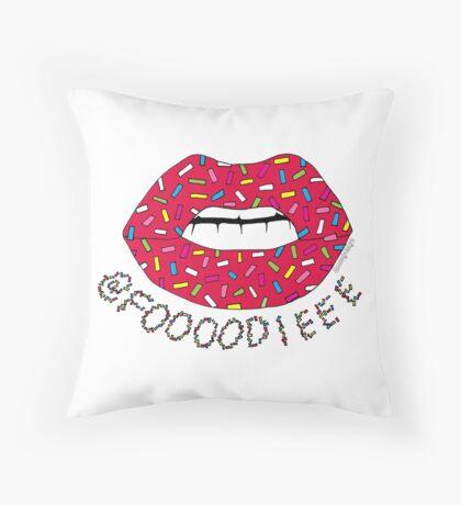 Custom Revamped Foooodieee logo Throw Pillow