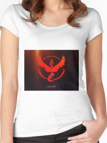 Pokemon GO - Team Valor (Red) Women's Fitted Scoop T-Shirt