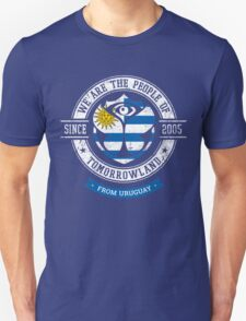 People of Tomorrowland country Flags logo Badge - Uruguay - Uruguayan - uruguayo - Uruguayen - Uruguai Unisex T-Shirt