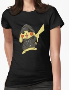 pikachu gangster RC Womens Fitted T-Shirt