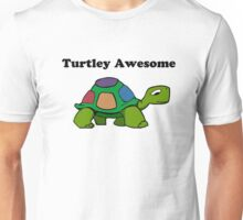 Turtley Awesome With Black Text (Clothing & Sticker ) Unisex T-Shirt