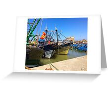 Port of Essaouira Greeting Card