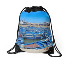 little blue boats Drawstring Bag
