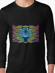 Swimming Zebra in Summer Sunset Sea Long Sleeve T-Shirt