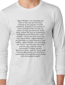 the x files gillian anderson theresa nemmans body blooper dana scully Long Sleeve T-Shirt