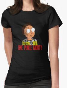 One Punce Morty Parody  Rick And Morty Womens Fitted T-Shirt