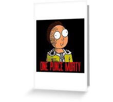 One Punce Morty Parody  Rick And Morty Greeting Card