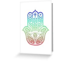 Colorful Hamsa Greeting Card