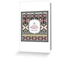 Ethnic print vector pattern background Greeting Card