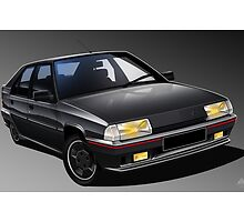 Poster artwork - Citroen BX GTI 16V by RJWautographics