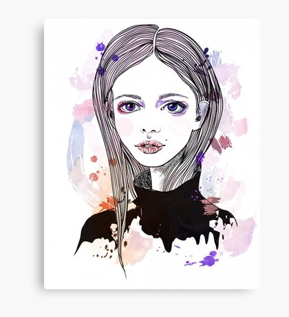 Girl with pink hair Canvas Print