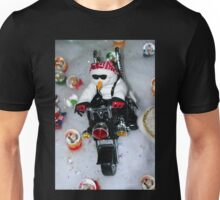 Motorcycle Snowman Unisex T-Shirt