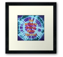 The Mythical Ethical Icicle Tricycle Framed Print