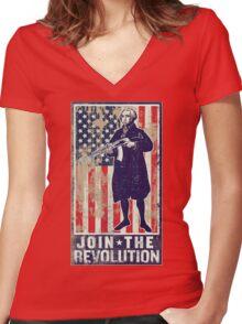 Join The Revolution Washington Women's Fitted V-Neck T-Shirt