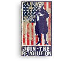 Join The Revolution Washington Metal Print