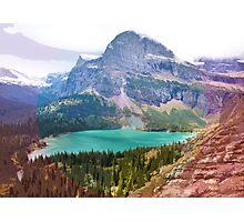 Grinnel Lake, Montana_ American Cutouts Photographic Print