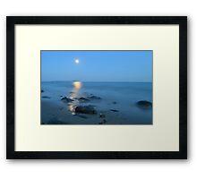A Moonlit Sea  Framed Print