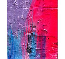 Blue Pink Purple Photographic Print