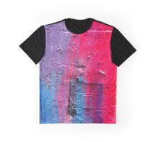 Blue Pink Purple Graphic T-Shirt