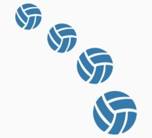 Blue volleyballs by Designzz