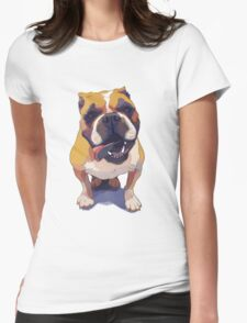 Staci the Bulldog Womens Fitted T-Shirt