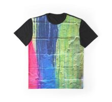 Pink Blue Yellow Graphic T-Shirt