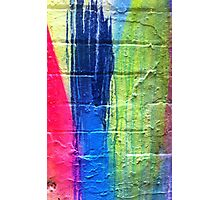 Pink Blue Yellow Photographic Print