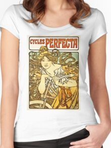 Alphonse Mucha - Cycles Perfecta Women's Fitted Scoop T-Shirt