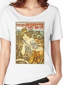 Alphonse Mucha - Cycles Perfecta Women's Relaxed Fit T-Shirt