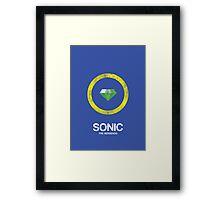 Minimal Sonic Framed Print