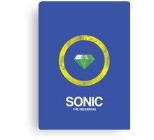 Minimal Sonic Canvas Print