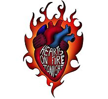 Hearts on fire tonight Photographic Print