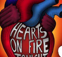 Hearts on fire tonight Sticker