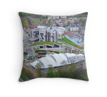 Scottish Parliament Buildings Holyrood Edinburgh Throw Pillow
