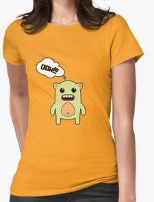 Cartoon monsters in a flat style. OOH!!! Womens Fitted T-Shirt
