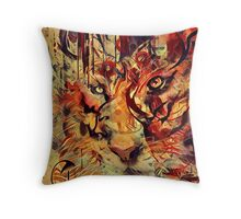 Tiger Burning Bright Throw Pillow
