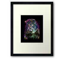 The Glowing Lion Framed Print
