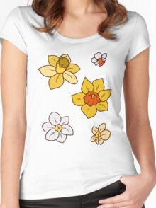 Colorful Daffodils Women's Fitted Scoop T-Shirt
