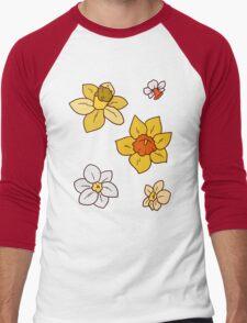 Colorful Daffodils Men's Baseball ¾ T-Shirt