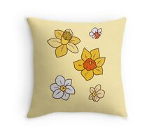 Colorful Daffodils Throw Pillow