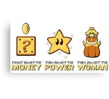 Mario Bros. Scarface - Money Power Woman Canvas Print