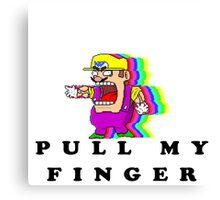 Pull Warios Finger Canvas Print
