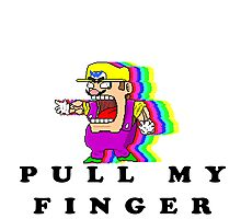 Pull Warios Finger Photographic Print