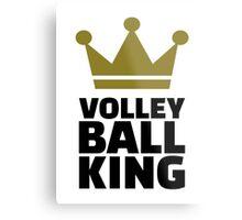 Volleyball king crown Metal Print