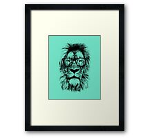 The king lion of the library Framed Print