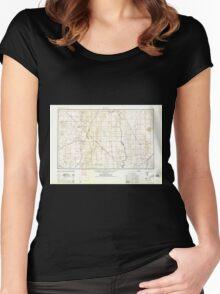 USGS TOPO Map Arizona AZ Kingman 315521 1958 250000 Women's Fitted Scoop T-Shirt