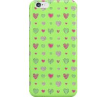 For the love of Watermelon - green background iPhone Case/Skin