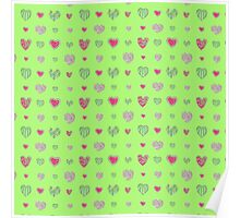 For the love of Watermelon - green background Poster