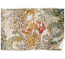 Alphonse Mucha - Femme La Margueritewoman With Daisy Poster