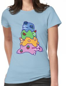 Fruit Sloth Stack Womens Fitted T-Shirt